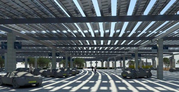 Over the next couple of years Tucson International Airport plans to install a solar-powered canopy over the entire & Solar canopy to shade Tucson airportu0027s front parking lot | Solar ...