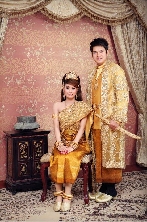Royal Khmer Khmer Wedding Cambodian Dress Cambodian Wedding Dress