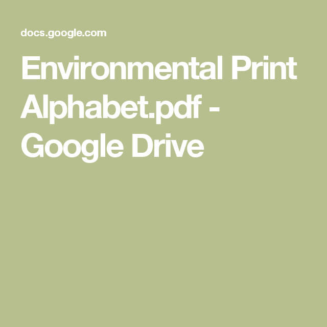 Environmental Print Alphabet.pdf - Google Drive