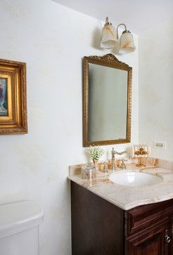 Vintage Style Bathroom in a Tudor Home traditional powder room