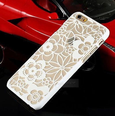 cute Pretty Lace Pattern Flower Design Plastic Case Cover For iPhone Model+ Film