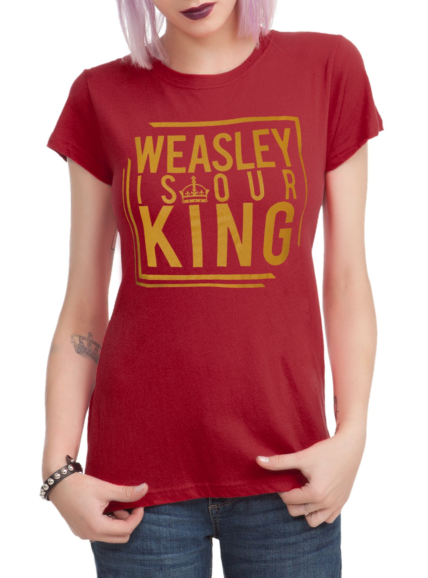 Harry potter weasley is our king girls tshirt harry