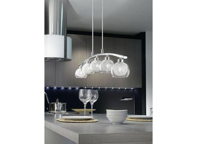 Modern pendant lamp 5x 33W G9 EEK: C to E, IP20