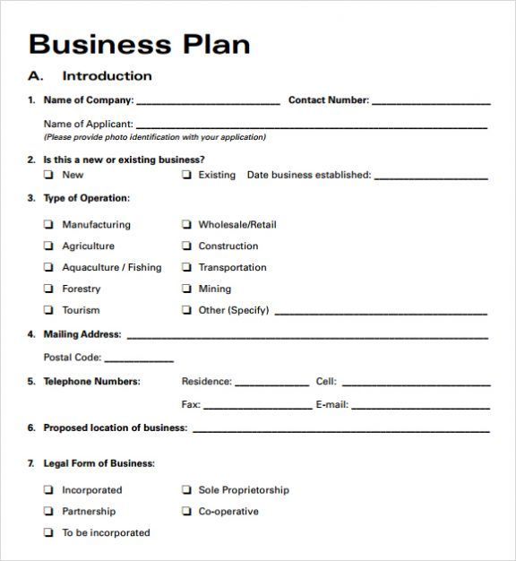 Simple Basic Startup Small Business Plan Template Pdf Word Excel