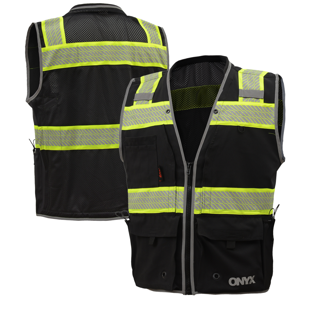 07f19bf0e23 GSS Safety 1511 1513 Onyx Series Class 2 Surveyors Vest in 2019 ...