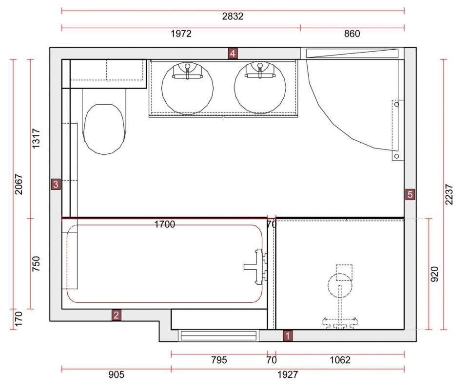 17 Plan Salle De Bain 6m2 Designs De Salle De Bain Decorationmaison101 Com In 2020 Badkamer Plattegrond Badkamer 9m2 Badkamer Douches