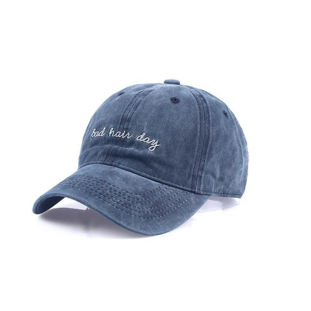 new Bad Hair Day Cap Washed Baseball Cap Women Men Hat Cap Casual Snapback  Letter Dad 16f266e26afd