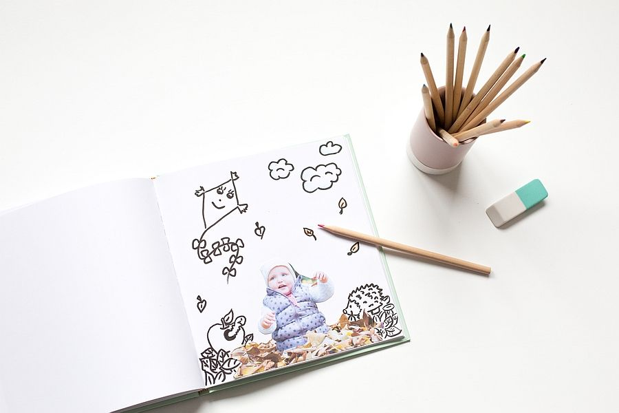 DIY: Selbst gestaltetes Malbuch mit eigenen Fotos | Klick.Kind I DIY ...