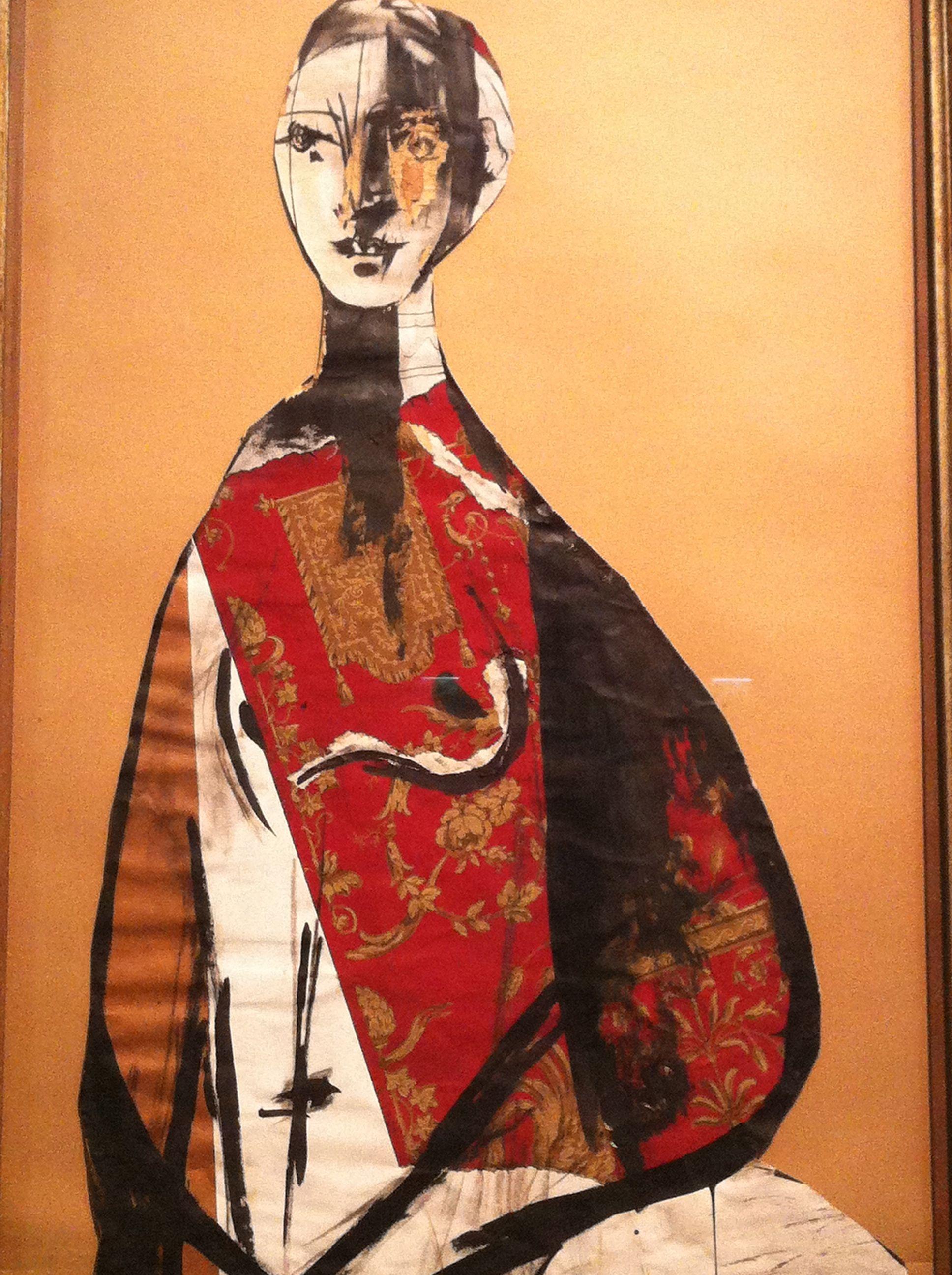 Pablo Picasso, Portrait de femme, 1928, gouache, encre et collage ...