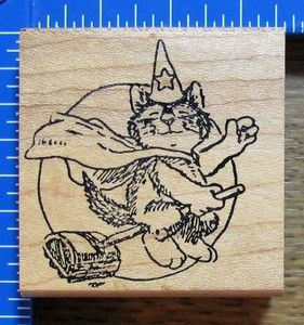 """Kidstamps Wallace Tripp Rubber Stamp """"Cool Halloween"""""""