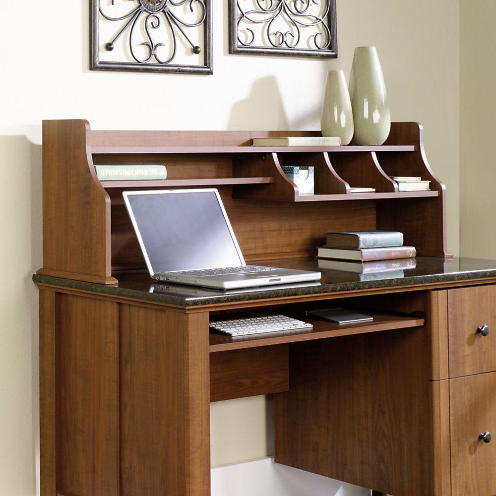 "Sauder Appleton Hutch For Computer Desk, 16"" x 52 1/8"" x 11 2/5"", Sand Pear"