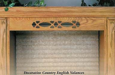 Country English valance - wood valances for your kitchen