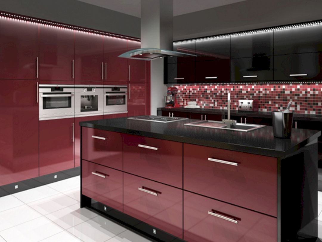 Outstanding 30 Top Red And Black Kitchen Ideas For Amazing Kitchen You Need To Know Https Deco Black Kitchen Decor Red Kitchen Cabinets Black And Red Kitchen