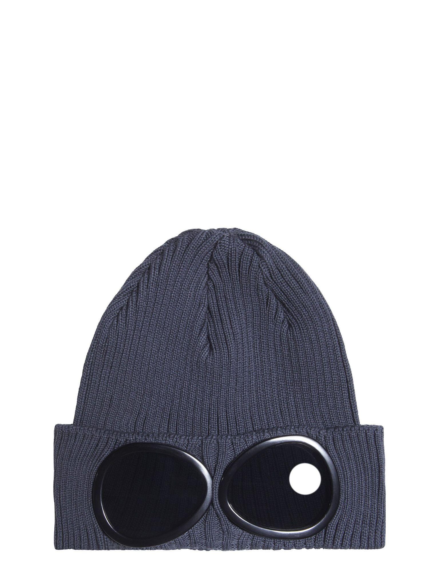 Ribbed Cotton Goggle Beanie Bright Blue C.P. Company 5sX8XDt