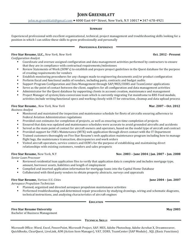 5 Star Resume Examples Resume examples, Sample resume and Sample