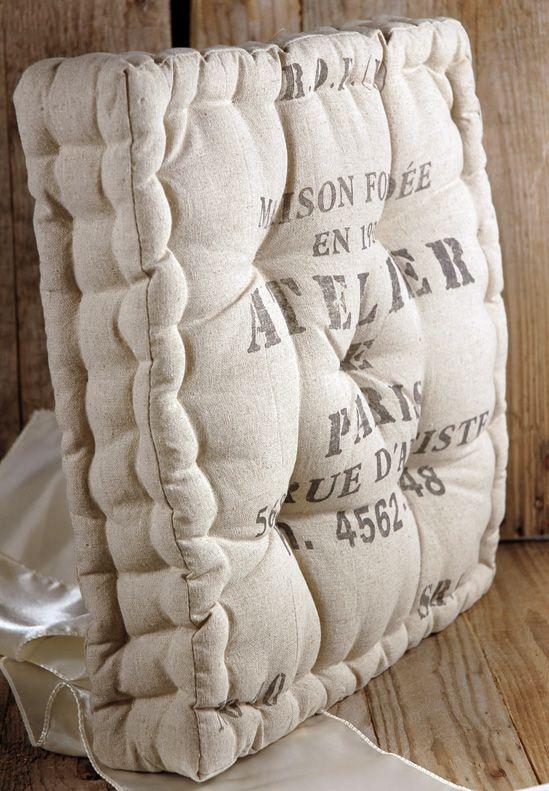 French 15 In Square Chair Cushion Atelier De Paris Pillow $25 Each