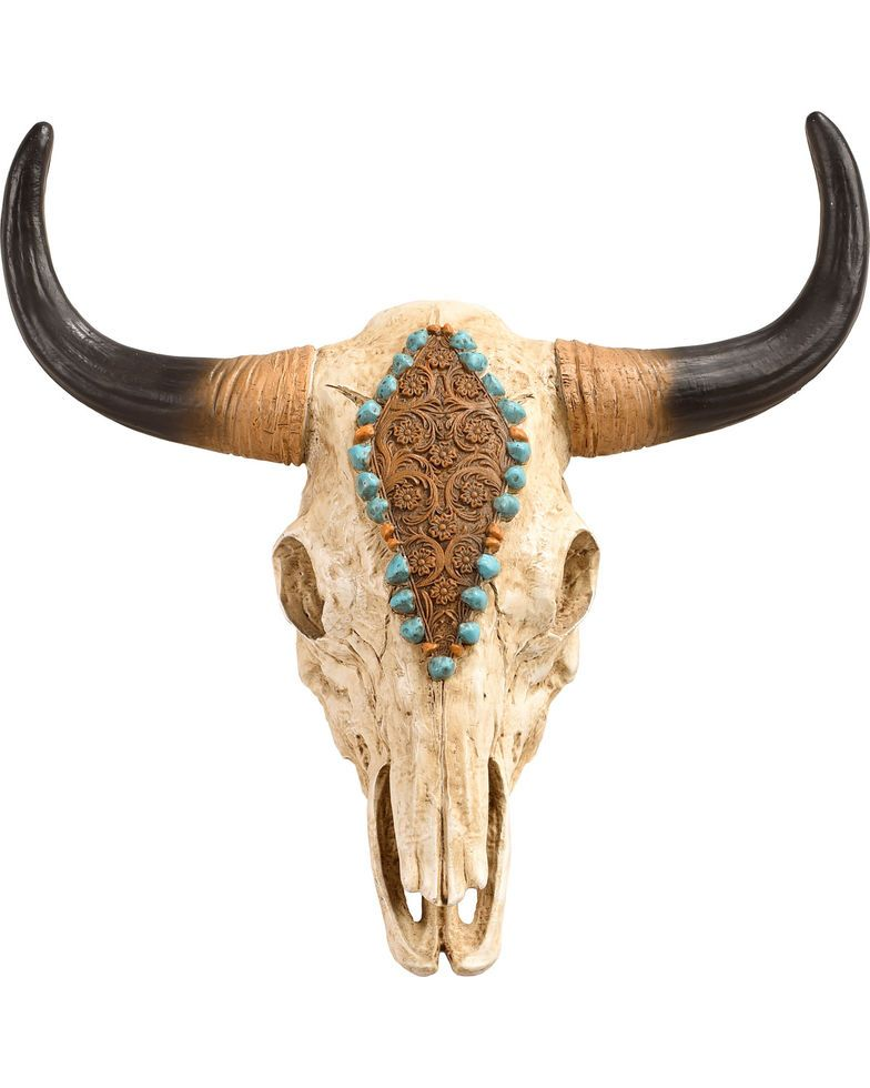Bb Ranch Painted Cow Skull Wall Decor No Color Hi Res In