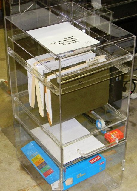 Great Lucite Office Caddy File Cabinet Desk By CustomAcrylicDesigns, $125.00