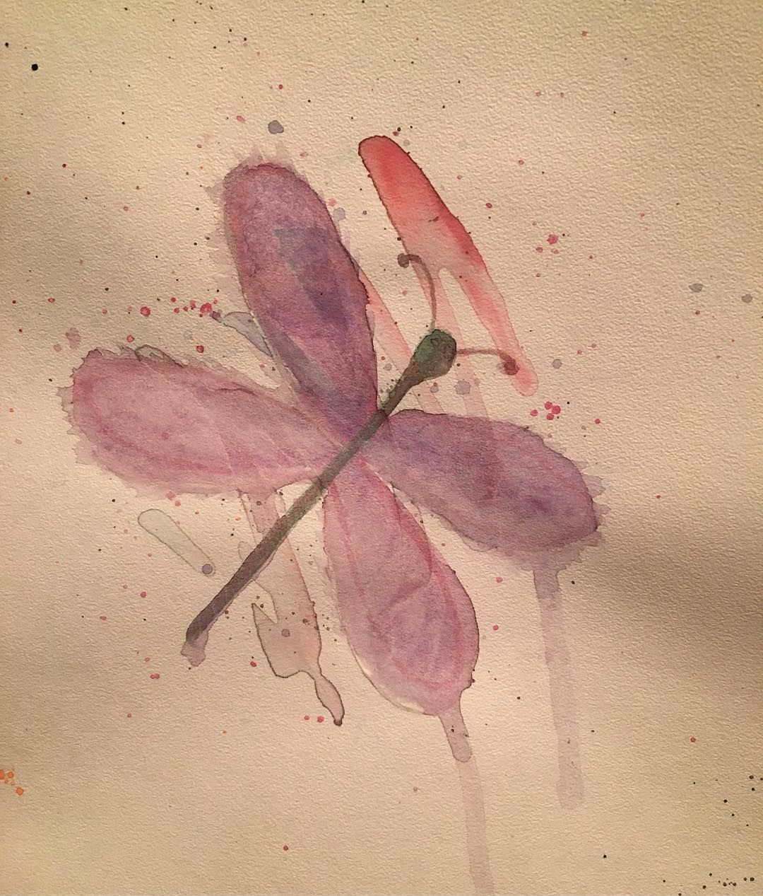 Dragonfly Watercolor Painting Dragonfly Paintingforfun