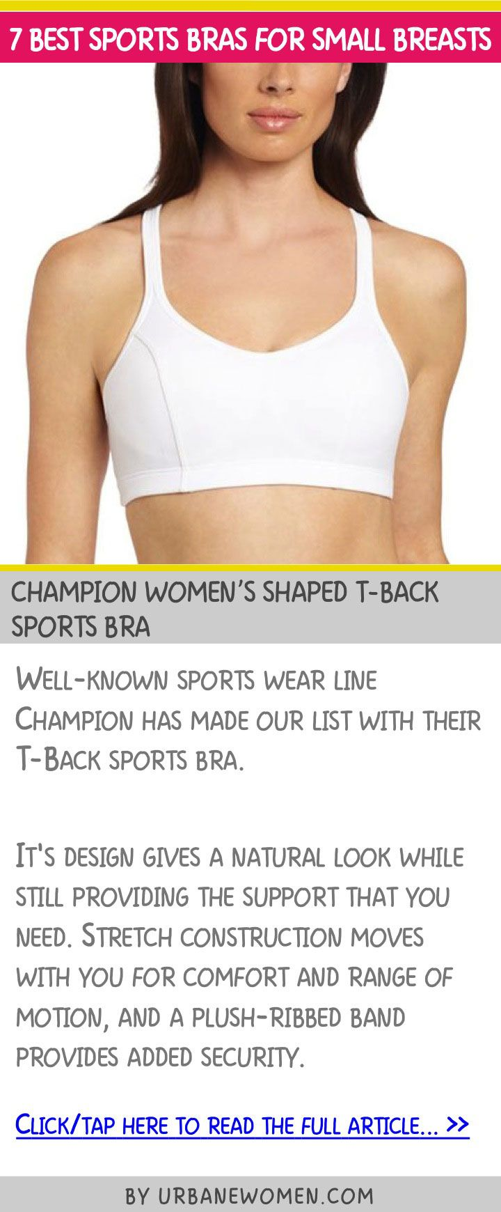 919b0fc08f 7 best sports bras for small breasts - Champion Women s Shaped T-Back  sports bra