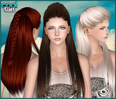 The Sims 3 Female Hair Coolsims 105 Hair Custom Content Download Sims Hair Sims 3 Womens Hairstyles
