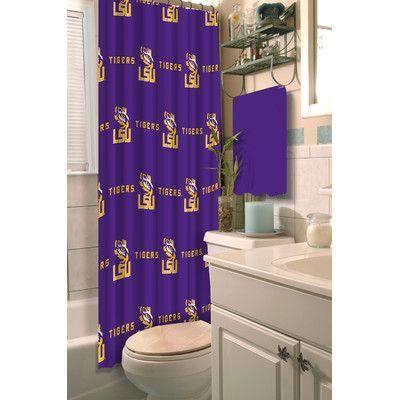 Northwest Co Collegiate Lsu Shower Curtain Shower Curtain Shower Curtain Polyester Curtains