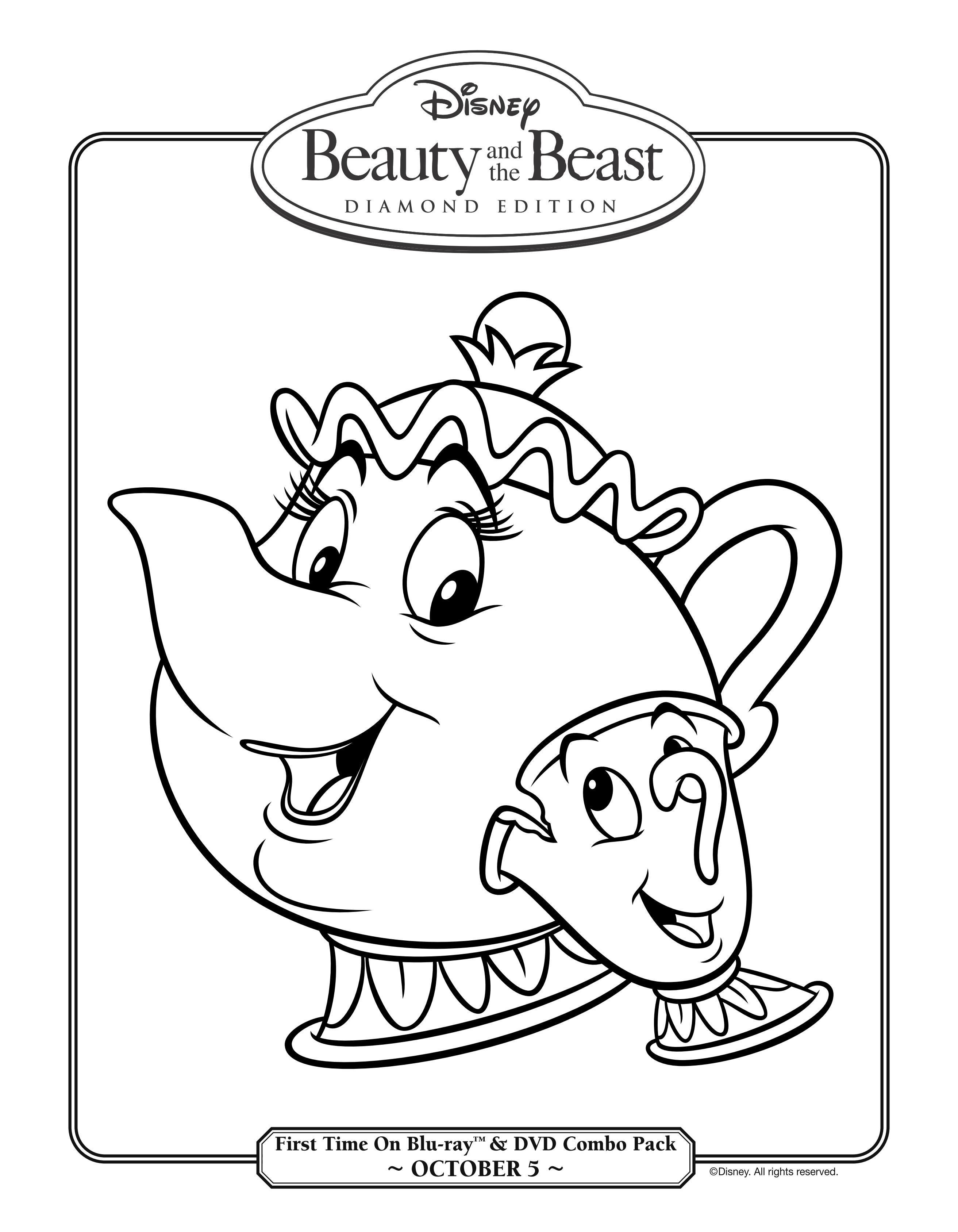 dibujo-para-colorear-la-bella-y-la-bestia-3d-5.jpg (JPEG Image, 2625 ...