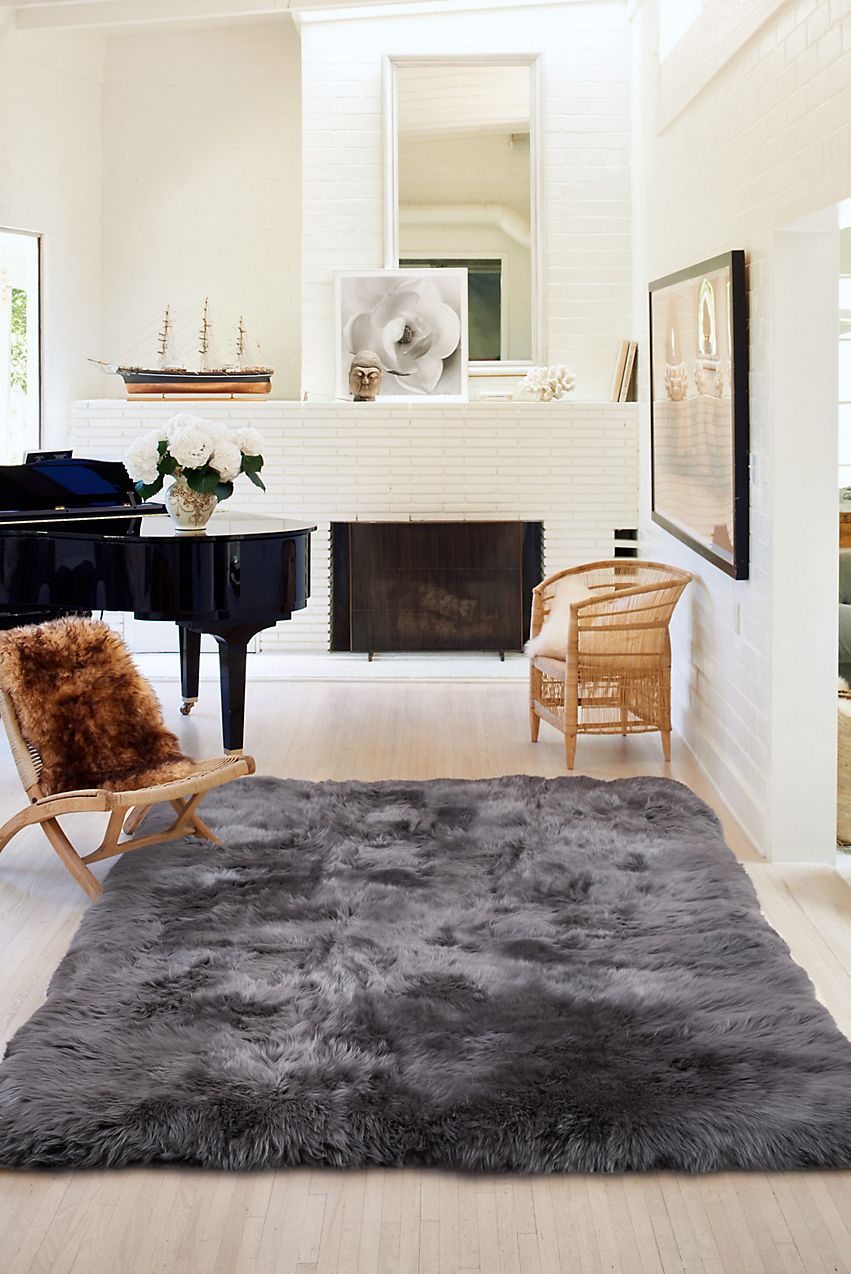 Its Lofty 3 Pile Lends Cozy Warmth And Luxury While 100 Cotton Backing Keeps The Rug In Place Free Ship Sheepskin Rug Interior Rugs Cowhide Rug Living Room #sheepskin #rug #in #living #room