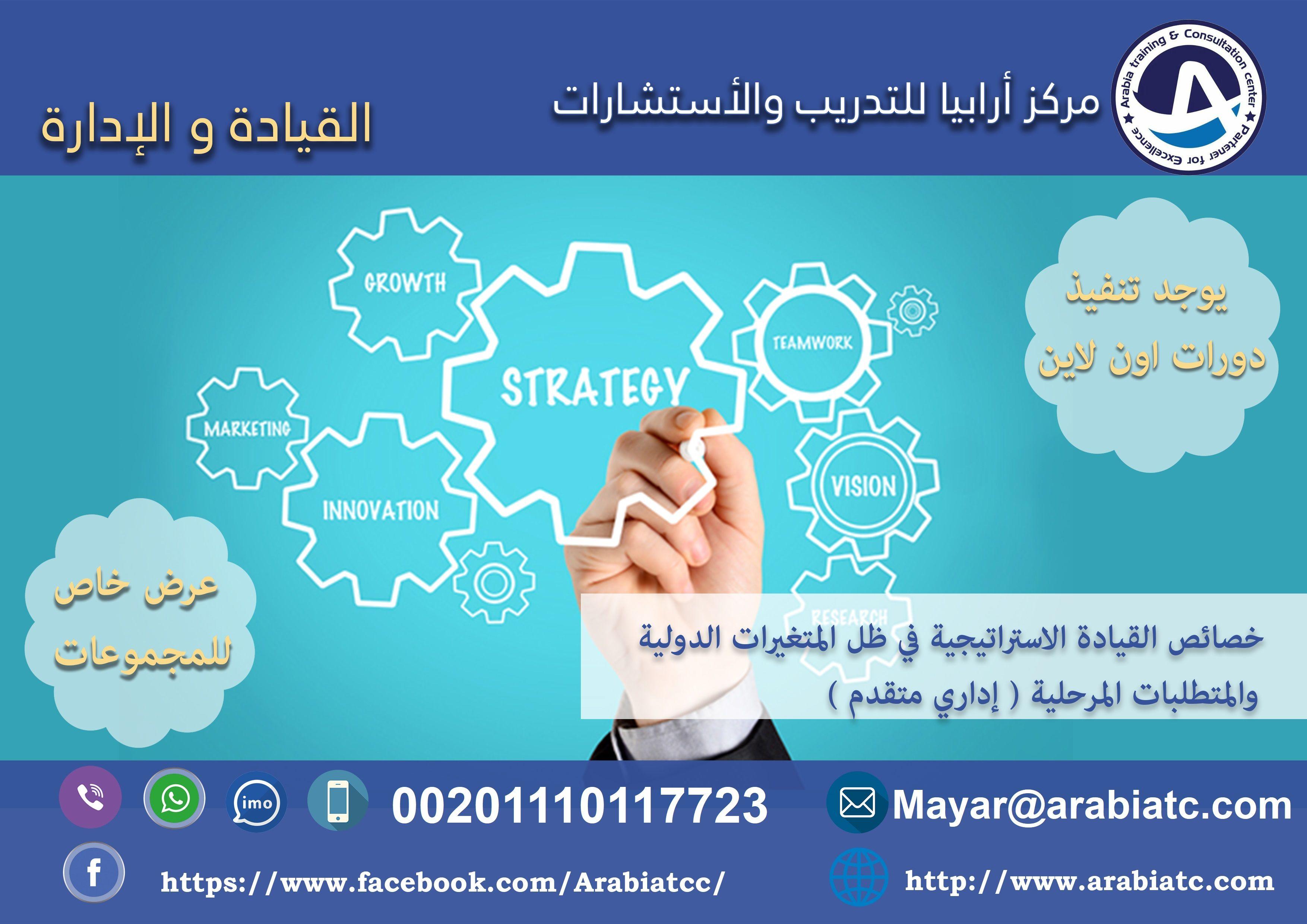 دورات القيادة والإدارة دورة خصائص القيادة الاستراتيجية في ظل المتغيرات الدولية والمتطلبات المرحلية السعودية الامارا Training Center Growth Strategy Merna