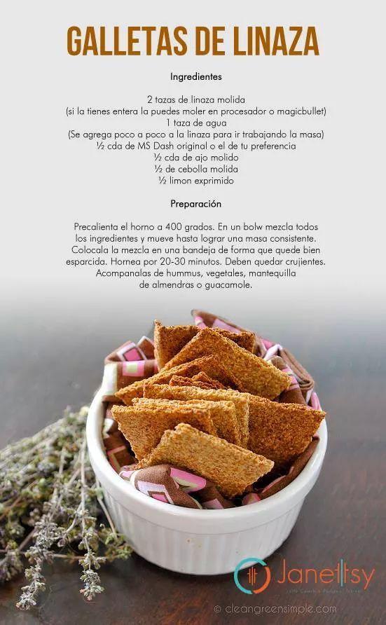 Galletas de linaza | Dieta Paleo: Snacks, Postres y algo más | Pinterest | Deli, Sugar free and ...