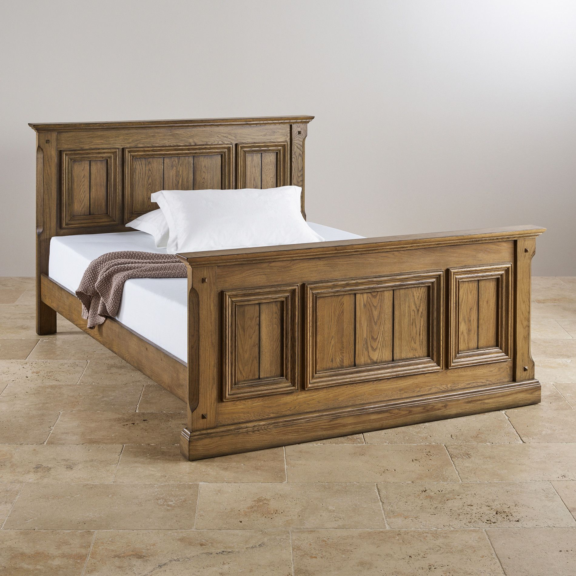 Manor house vintage solid oak ft super kingsize bed manor houses