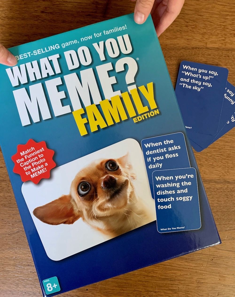 Four Ways To Entertain Yourself A Cup Of Jo What Do You Meme Family Funny Family Games