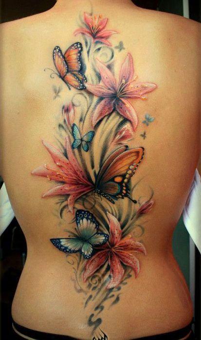 Photo Realistic Flower Tattoos Google Search: Feniks Tatuaż Brzuch - Szukaj W Google