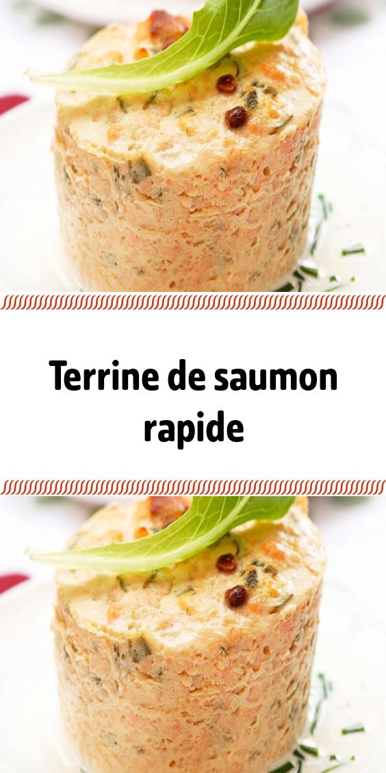 Terrine De Saumon Rapide Recette Entrée Facile Recette à Base De Saumon Recettes De Cuisine