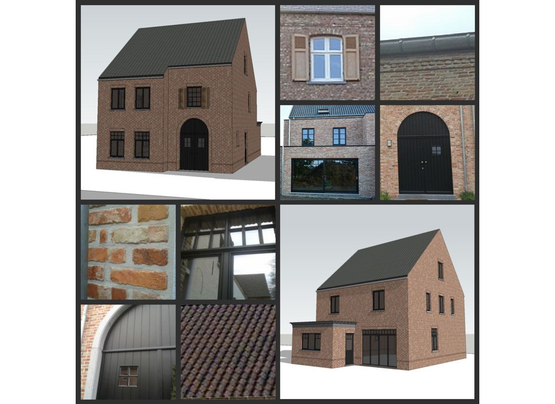 Stijl laten we bouwen dream house ramen house