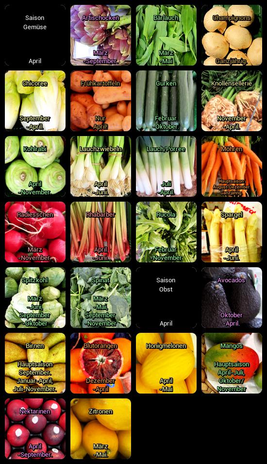 Der Blog zur Abnehmen-Community: Saisonkalender