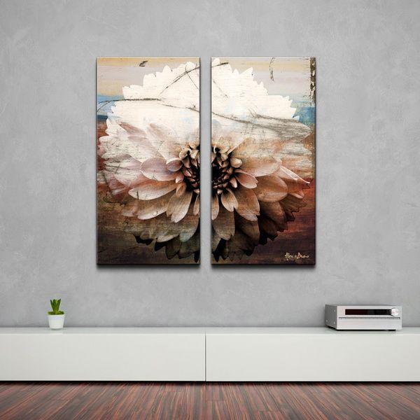 Delightful Alexis Bueno U0027Daisyu0027 Oversized Canvas Wall Art (Set Of 2)