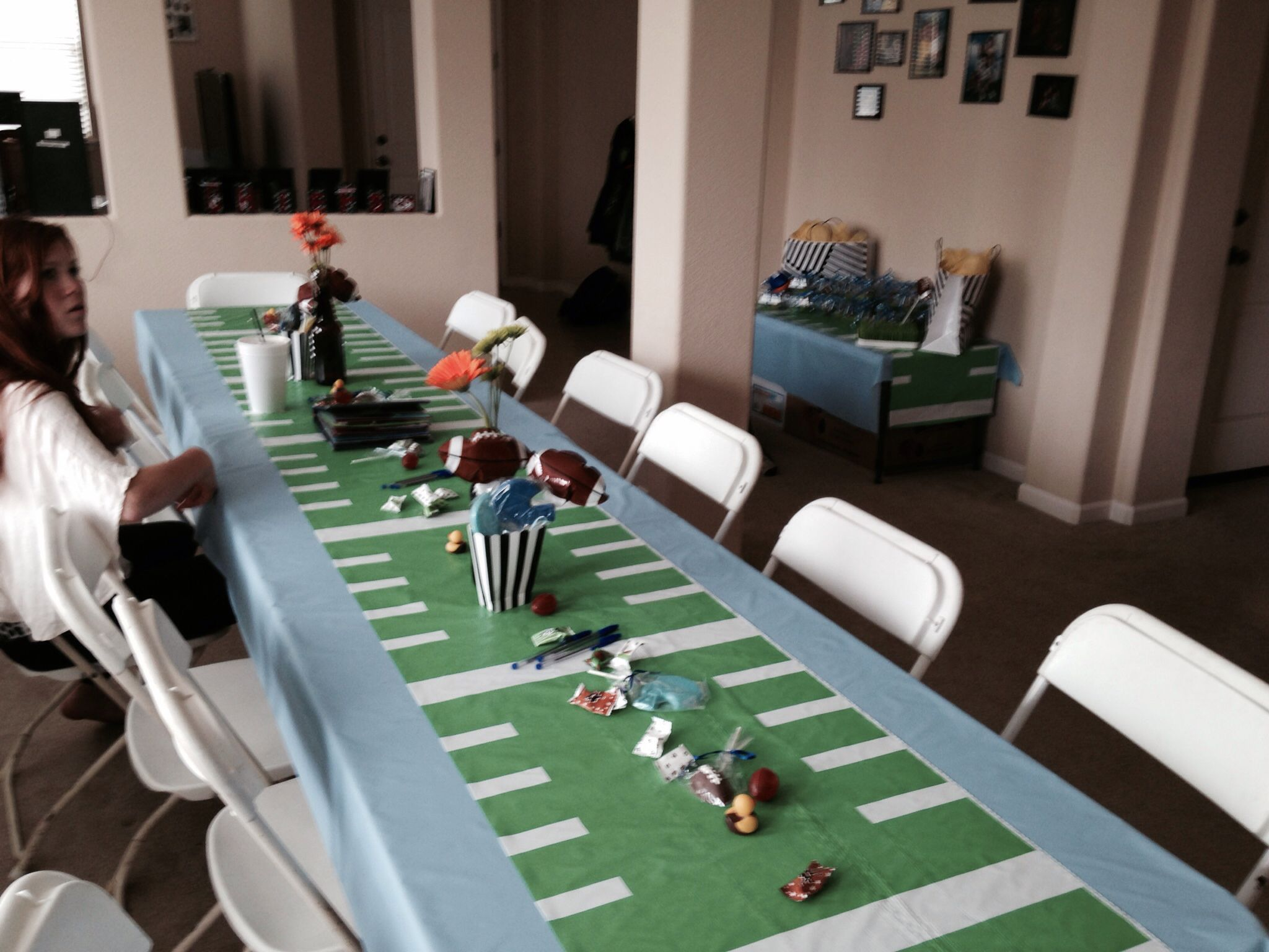 Football baby shower football baby shower ideas pinterest for Baby decoration games