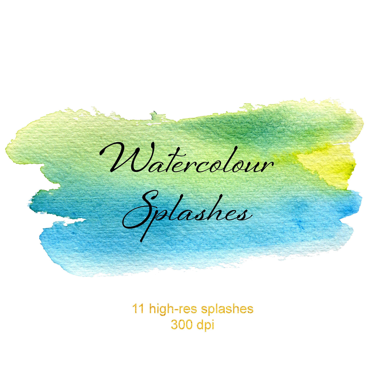Watercolor Splashes Clipart Watercolor Paint Backgrounds Paint