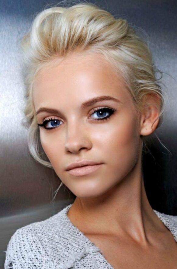 Blue Eyes Fair Skin Wedding Makeup Hair Beauty Beautiful Hair