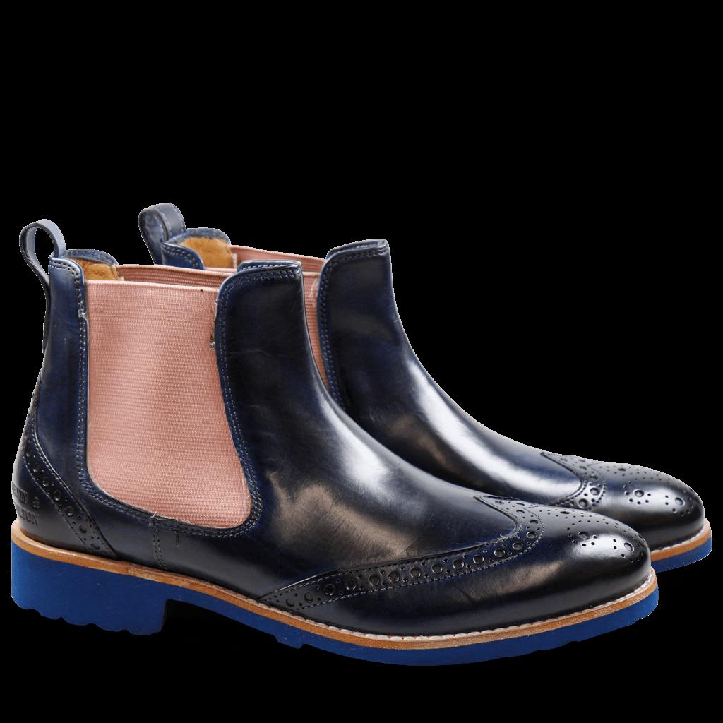 2262152a01d49d Ankle Boots Amelie 5 Crust Mid Blue Elastic Rose Rook D Blue ...