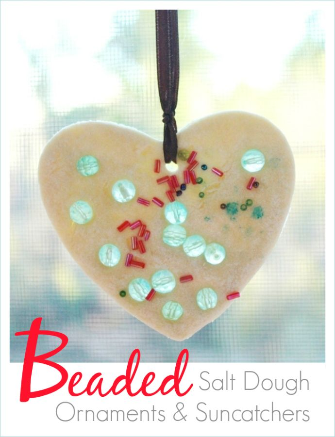 Sparkly, Beaded Salt Dough Ornaments, Suncatchers, and Garlands!