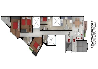 Planos departamentos esquina tipo proyectos que debo for Planos departamentos pequenos modernos