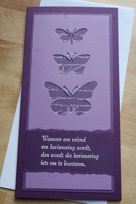 't is allemaal handwerk!: rouwkaarten