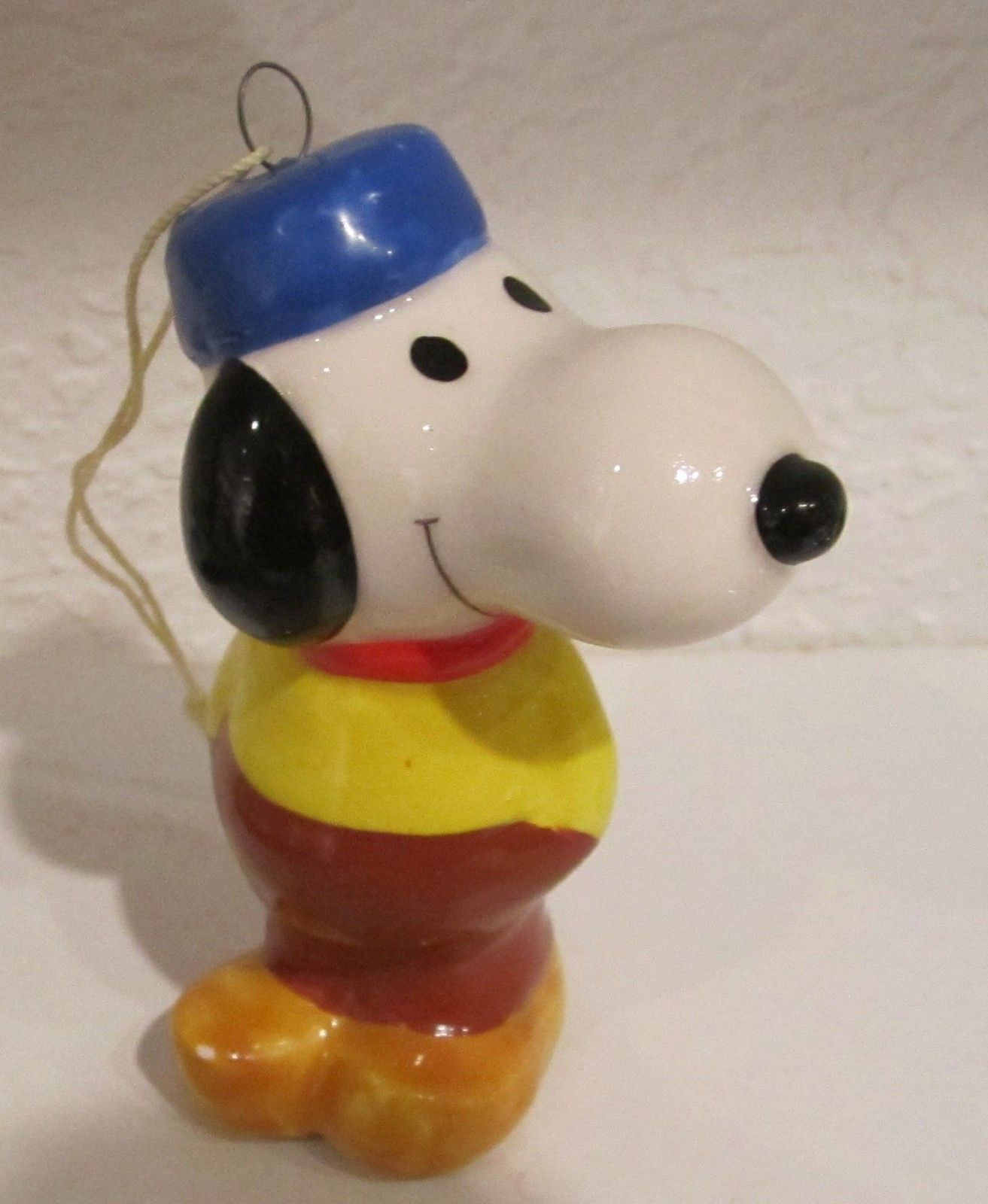 snoopy vintage ceramic christmas ornament holland wooden shoes