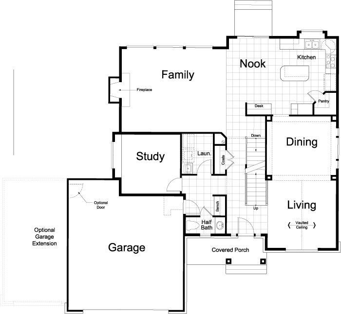 Main Floor Home 2 House Floor Plans Floor Plans How To Plan