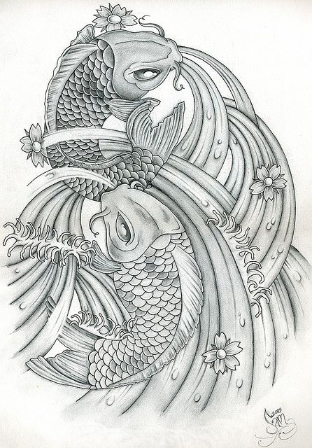 Japanese Koi Tattoo Art By Jammy Sam Via Flickr Koi Tattoo Art Tattoo Koi Art