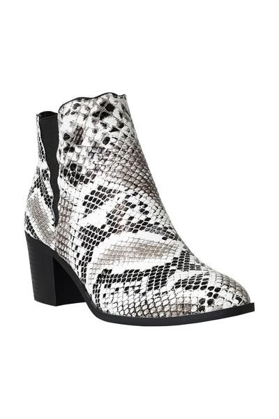 White snakeprintboots Snakeskin Ankle Boots snakeskinboots snakeprintboots White 535baf