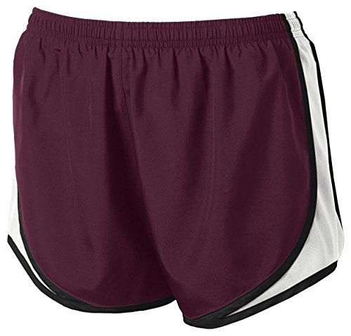 SportTek  Ladies Cadence ShortS MaroonWhiteBlack -- See this great product.(This is an Amazon affiliate link and I receive a commission for the sales)