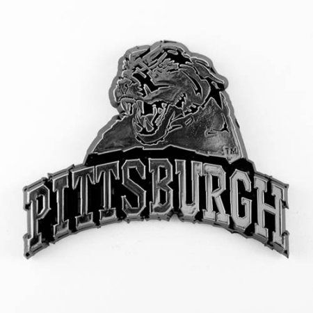 Ncaa Pittsburgh Panthers Chrome Automobile Emblem, Silver